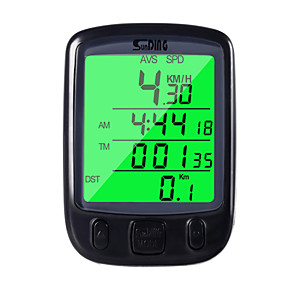 cheap Outdoor IP Network Cameras-Bicycle Odometer Speedometer Computer Water Resistant Cycling Odometer Speedometer with Green LCD Backlight for Bike