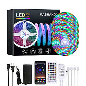 cheap LED Strip Lights-20M LED Strip Lights Waterproof RGB LED Light Music Sync 1200LEDs LED Strip 2835 SMD Color Changing LED Strip Light Bluetooth Controller and 40 Keys Remote LED Lights for Bedroom Home Party