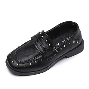 cheap Kids' Loafers-Girls' Comfort PU Loafers & Slip-Ons Little Kids(4-7ys) Black / Brown Summer
