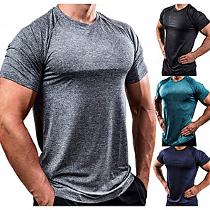 cheap Running & Jogging Clothing-Men's Workout Tops Running Shirt Short Sleeve Breathable Soft Sweat Out Fitness Gym Workout Performance Running Training Sportswear Normal Tee T-shirt Top White Black Red Army Green Blue Green
