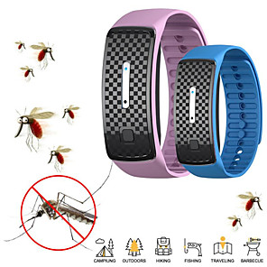 cheap Health & Household Care-Ultrasonic Mosquito Repellent Wristband Electronic Mosquito and Insect Repellent Wristband for Kids with USB Charging