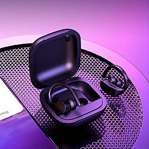 cheap TWS True Wireless Headphones-LITBest B5 TWS Wireless Earbuds Ear-hook Earphone Pop Up Smart Siri 6D Surround Subwoofer Bluetooth Sweatproof Waterproof LED Prower Button Control Volume Music Headset with Charging Compartment