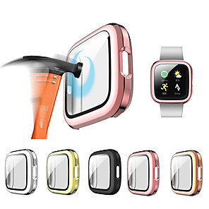 cheap Smartwatch Bands-Glass and case For Fitbit Versa 2 Tempered bumper Screen Protector and cover Versa 2 watch Accessories