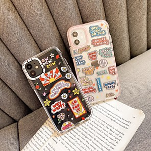 cheap iPhone Cases-Case For Apple iPhone 6S 7 8 6plus 7plus 8plus SE(2020) iPhone X XS XR XS MAX iPhone 11  iPhone 11 Pro  iPhone 11 Pro Max Shockproof Pattern Back Cover Word Phrase Cartoon Flower TPU