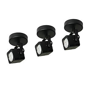 billiga Övervakningskameror-traditionell led-spot light 3w lampor inkluderade takarmatur svart målning för vardagsrum sovrum 3 delar mycket