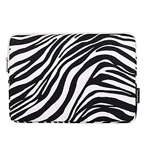 cheap Sleeves,Cases & Covers-11.6 12 13.3 14.1 15.6 inch Laptop Sleeve Case Bag  Water-resistant Shock Proof  Universal Zebra Print for Macbook/Surface/Xiaomi/HP/Dell/Samsung/Sony Etc