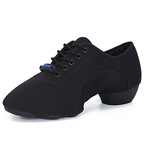 cheap LED Smart Home-Women's Dance Shoes Latin Shoes Flat Flat Heel Black