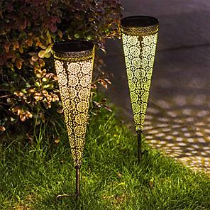 cheap LED String Lights-2pc Solar Garden Light Outdoor Lights Lawn Light LED Waterproof Garden Lighting