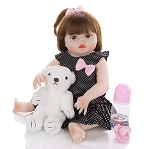 cheap Toy Cars-KEIUMI 19 inch Reborn Doll Baby & Toddler Toy Reborn Toddler Doll Baby Girl Gift Cute Washable Lovely Parent-Child Interaction Full Body Silicone 19D13-C90-H40-T19 with Clothes and Accessories for