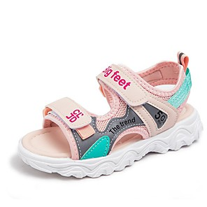 cheap Kids' Sandals-Girls' Sandals Comfort Mesh Little Kids(4-7ys) / Big Kids(7years +) Walking Shoes Dusty Rose / Green / Gray Summer