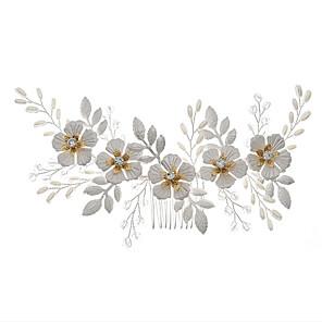 cheap Wedding Wraps-Fashion Alloy Headdress with Imitation Pearl 1 Piece Wedding / Special Occasion Headpiece