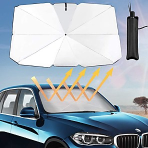 cheap Car Pendants & Ornaments-Anti-UV Car Sun Visor Ultraviolet Mirror Film Sun Visor Car Umbrella Folding Car Front Sunshade Protection Cover Sunscreen Heat Insulation Car Front Windshield Sunshade For SUV Car