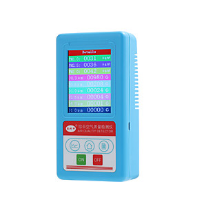 cheap Testers & Detectors-BR-8A Multifunctional Handheld PM2.5 PM10 PM1.0 Detector Air Quality Analyzer Particles Tester W/ Rechargeable lithium battery