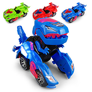 cheap Toy Trucks & Construction Vehicles-Construction Truck Toys Electric Deformation Robot Race Car Sounds Lights Universal Driving Plastic Mini Car Vehicles Toys for Party Favor or Kids Birthday Gift / Kid's
