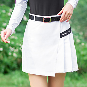 cheap Golf, Tennis & Badminton-Women's Golf Outdoor Exercise Skirt Windproof Fast Dry Breathability Sports & Outdoor Summer White Black Red