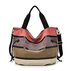 cheap Handbag & Totes-Women's Bags Polyester / Canvas Top Handle Bag for Shopping / Daily Blue / Blushing Pink / Fall & Winter