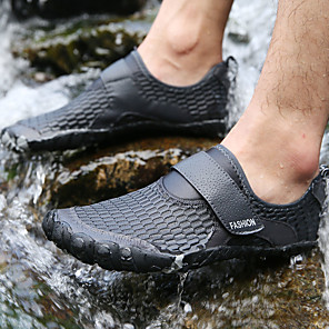 cheap Men's Slip-ons & Loafers-Unisex Summer / Fall Sporty / Casual Daily Outdoor Trainers / Athletic Shoes Water Shoes / Upstream Shoes Nappa Leather / Mesh Breathable Wear Proof Dark Grey / Black / Army Green