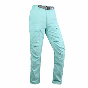 cheap Hiking Trousers & Shorts-Women's Convertible Pants / Zip Off Pants Solid Color Summer Outdoor Standard Fit Breathable Quick Dry Ultraviolet Resistant Soft Nylon Pants / Trousers Bottoms Red Army Green Blue Khaki Hunting