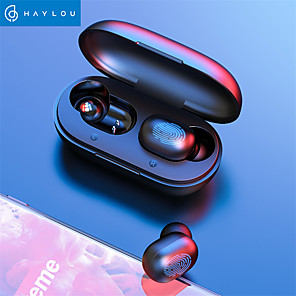 cheap On-ear & Over-ear Headphones-HAYLOU GT1 TWS True Wireless Earbuds Fingerprint Touch Earphones HD Stereo Bluetooth 5.0 Stereo Headphones Gaming Headset for Mobile Phone