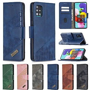 cheap Samsung Case-Case For Samsung Galaxy S20 Ultra A20E S10E A10E A10 A20 A30 A40 A50 A70 S9 Wallet Card Holder with Stand Full Body Cases Solid Colored PU Leather