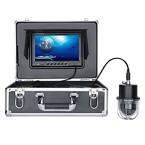 cheap Indoor IP Network Cameras-FX9D-100M 9 Inch DVR Recorder 100m Underwater Fishing Video Camera Fish Finder IP68 Waterproof 20 LEDs 360 Degree Rotating Dome  Rotating Panoramic viewing Camera