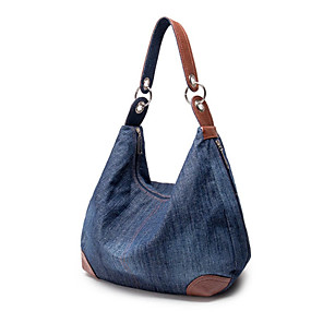cheap Handbag & Totes-Women's Bags Denim Crossbody Bag for Daily Sky Blue / Dark Blue