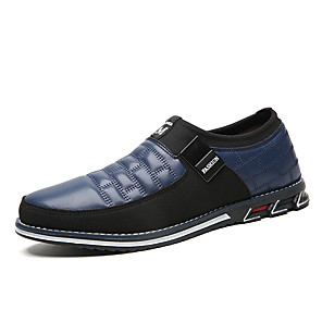 cheap Men's Slip-ons & Loafers-Men's Spring / Summer Business / Classic / Casual Daily Office & Career Loafers & Slip-Ons Nappa Leather Breathable Non-slipping Wear Proof Black / Blue / Brown