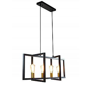cheap Pendant Lights-QIHengZhaoMing 4-Light 90 cm Island Design Pendant Light Metal Vintage 110-120V 220-240V