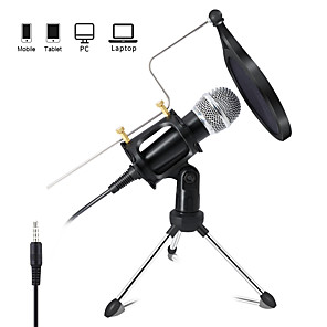 cheap Portable Speakers-Recording Condenser Microphone Mobile Phone 3.5mm Jack Microphone for PC Karaoke Mic