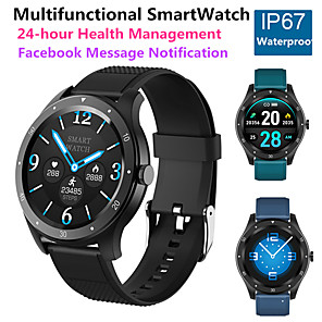 cheap Smartwatches-JSBP HS6 Smart Watch BT Fitness Tracker Support Notify Full Touch Screen/Heart Rate Monitor Sport Stainless Steel Bluetooth Smartwatch Compatible IOS/Android Phones