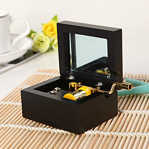 cheap Music Boxes-Music Box Classic & Timeless Novelty DIY Furnishing Articles Unique Wood Women's Boys' Girls' Kid's Adults Graduation Gifts Toy Gift