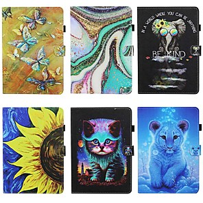 cheap Other Phone Case-Case For Lenovo M10 Plus TB-X606F Card Holder with Stand  Flip Full Body Cases Butterfly Animal PU Leather