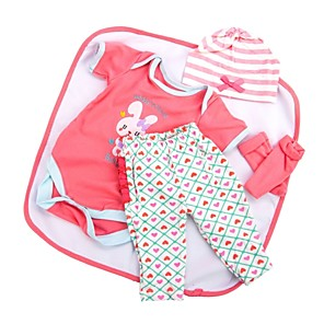 cheap Dolls Accessories-Reborn Baby Dolls Clothes Reborn Doll Accesories Cotton Fabric for 22-24 Inch Reborn Doll Not Include Reborn Doll Rabbit Soft Pure Handmade Girls' 5 pcs