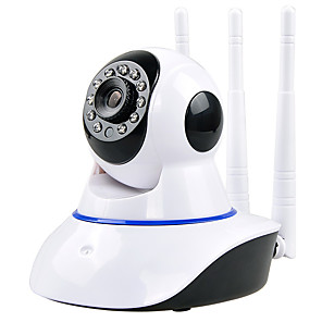 cheap Indoor IP Network Cameras-Wireless wifi webcam ip camera remote HD housekeeping artifact V380 dual antenna shaking machine