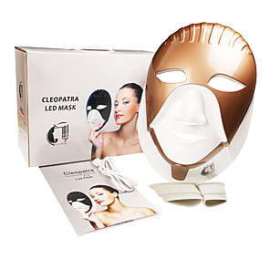 cheap Facial Care Device-Rechargeable LED Mask 8 Colors Led Facial Mask For Skin Care Facial Neck Care Integration Egypt Style Face Beauty Mask