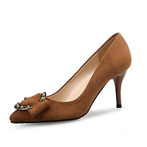cheap Women's Heels-Women's Heels Spring Fall Pumps Pointed Toe Office & Career Home Suede Black / Brown