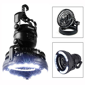 cheap Flashlights & Camping Lanterns-Camping Lantern with Ceiling Fan Waterproof 78 lm LED 18 Emitters Manual Mode Waterproof Portable Fan Night Vision 2 in 1 Camping / Hiking / Caving Hunting Cold White Light Source Color Black
