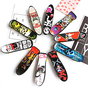 cheap Latin Dancewear-12 pcs Finger skateboards Mini fingerboards Finger Toys Plastic Office Desk Toys Cool with Replacement Wheels and Tools Skate Kid's Teen Party Favors  for Kid's Gifts