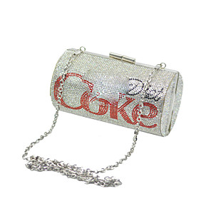 cheap Men's Oxfords-Women's Bags Polyester Evening Bag Crystals Chain for Wedding / Party / Event / Party Red / Silver / Wedding Bags