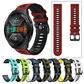 tanie Opaski Smartwatch-Sportowy silikonowy pasek na nadgarstek do zegarka huawei GT 2e / gt2 46mm / gt 2 42mm / gt active / honor magic watch 2 46mm / magic watch 2 42mm / watch 2 pro wymienna bransoletka opaska