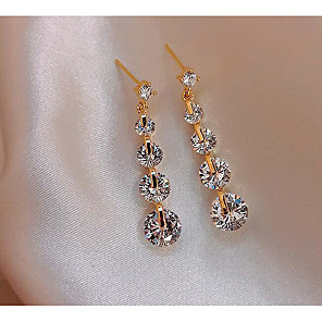 cheap Earrings-Women's Drop Earrings Classic Love Classic Vintage Imitation Diamond Earrings Jewelry Gold For Gift Daily 1 Pair