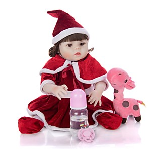 cheap Stuffed Animals-KEIUMI 19 inch Reborn Doll Baby & Toddler Toy Reborn Toddler Doll Baby Girl Gift Cute Washable Lovely Parent-Child Interaction Full Body Silicone KUM19FS04-WW31 with Clothes and Accessories for