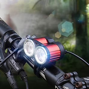 cheap Bike Lights & Reflectors-LED Bike Light Front Bike Light LED Bicycle Cycling Professional 18650 1600 lm Rechargeable Battery White Cycling / Bike / Aluminum Alloy / IPX 6