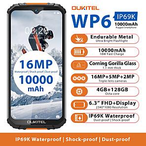 "cheap Phablets-OUKITEL wp6 4+128G 6.3 inch "" 4G Smartphone ( 4GB + 128GB 2 mp / 5 mp / 48+5 mp MediaTek MT6771t 10000 mAh mAh )"