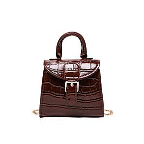 cheap Handbag & Totes-Women's Bags PU Leather Crossbody Bag Zipper / Chain for Daily Black / Red / Green