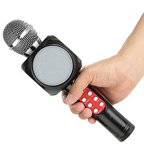 cheap Microphones-WS1816 Wireless LED Bluetooth Microphone Music Audio Phone Speaker Mini Home KTV