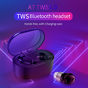cheap TWS True Wireless Headphones-A7 TWS Earbuds Bluetooth 5.0 Wireless  Waterproof  Stereo Hifi Earphones Sport  Headset with Charging Box