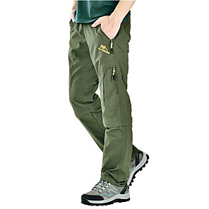 cheap Hiking Trousers & Shorts-Men's Hiking Pants Convertible Pants / Zip Off Pants Summer Outdoor Lightweight UV Resistant Breathable Quick Dry Pants / Trousers Bottoms Dark Grey Black Army Green Khaki Camping / Hiking Hunting
