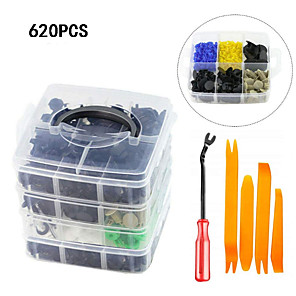 cheap Motorcycle Lighting-620pcs Bumper Retainer Clips Car Plastic Rivets Fasteners Push Retainer Kit Most Popular Sizes Auto Push Pin Rivets Set -Door Trim Panel Fender Clips for GM Ford Toyota Honda ChrysleCar Auto Trim Rem