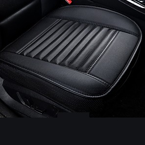 cheap Car Seat Covers-Car Front Seat Cover PU Non-slip Car Seat Cushion Cover Auto Chair Cushion PU Leather Pad Breathable Car Front Seat Cover for Four Seasons